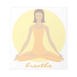 Mujer Meditating Blocs De Papel