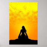 Mujer Meditating Impresiones
