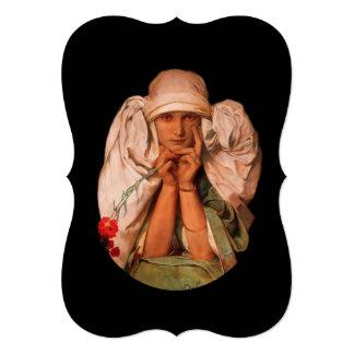"""Mujer mística con el clavel invitación 5"""" x 7"""""""