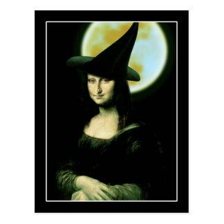 Mujer Mona Lisa Halloween de Witchy Postal
