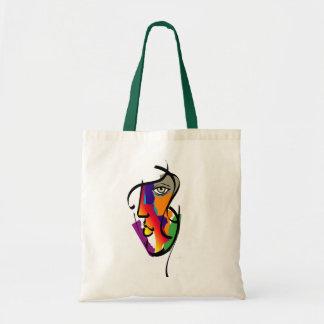 Mujer multicultural bolsas de mano
