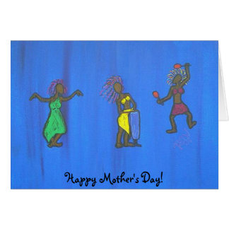 Mujer-Música de la tarjeta del día de madre - danz