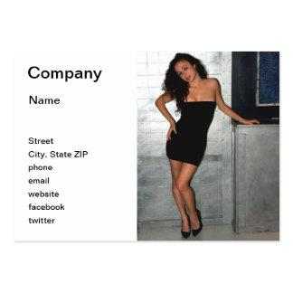 Mujer negra del vestido tarjetas de visita grandes