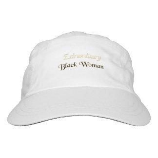 Mujer negra extraordinaria gorra de alto rendimiento