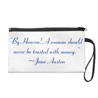 Mujer no de confianza con la cita de Jane Austen