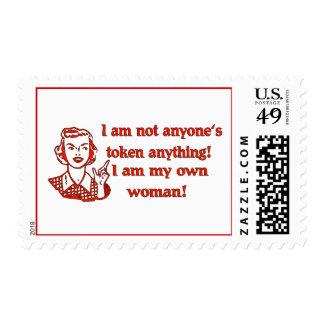 Mujer no simbólica sellos