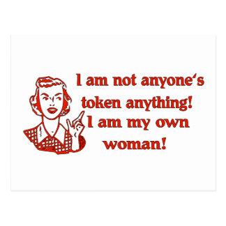 Mujer no simbólica postales