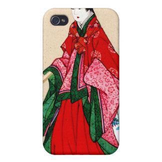 Mujer noble japonesa con las cejas artificiales 18 iPhone 4/4S fundas