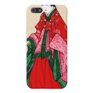 Mujer noble japonesa con las cejas artificiales 18 iPhone 5 cobertura