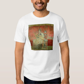 Mujer noble que juega un Cithera Camisas