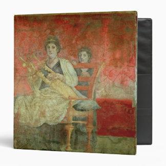 """Mujer noble que juega un Cithera Carpeta 1 1/2"""""""