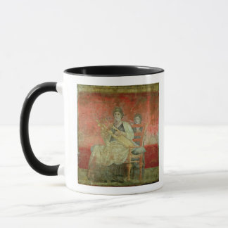 Mujer noble que juega un Cithera Taza