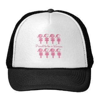 Mujer orgullosa gorra