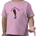 Mujer oscura que toca el saxofón camisetas