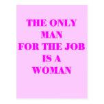 mujer para el trabajo postal