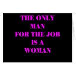 mujer para el trabajo tarjeta de felicitación