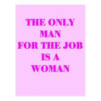 mujer para el trabajo tarjetas postales