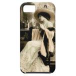 Mujer parisiense 1900 que bebe Champán iPhone 5 Case-Mate Fundas