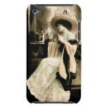 Mujer parisiense 1900 que bebe Champán iPod Touch Protector