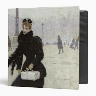 Mujer parisiense en la plaza de la Concordia
