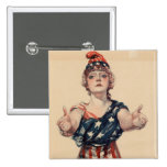 Mujer patriótica del vintage pin
