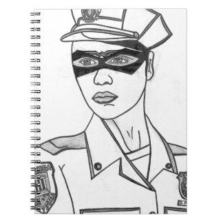 Mujer policía estupenda libros de apuntes