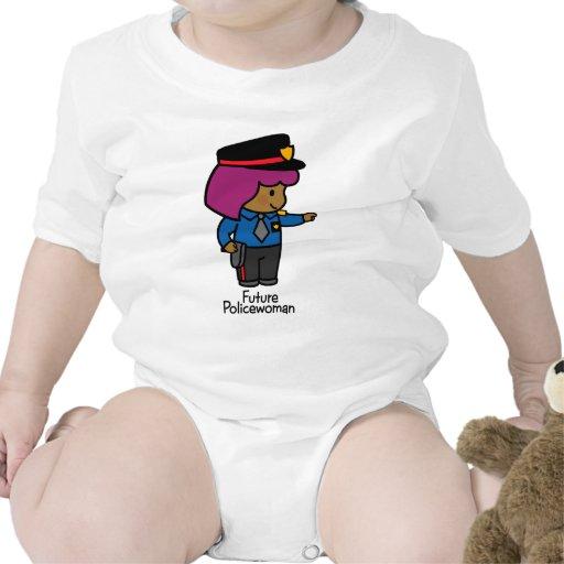 Mujer policía futura trajes de bebé
