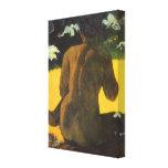 Mujer por el mar, Gauguin, impresionismo del Lona Estirada Galerias