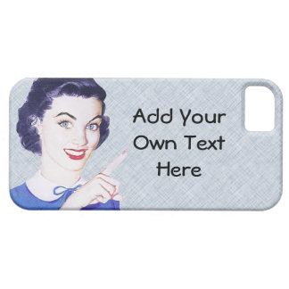 Mujer punteaguda de los años 50 retros funda para iPhone SE/5/5s