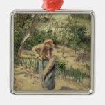 Mujer que cava en una huerta, 1882 ornamento para reyes magos