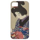 Mujer que cose, Itō Shinsui - japonés Woodblock iPhone 5 Fundas