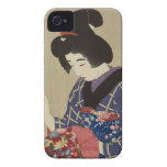 Mujer que cose, Itō Shinsui - japonés Woodblock iPhone 4 Case-Mate Protector