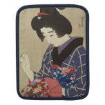 Mujer que cose, Itō Shinsui - japonés Woodblock Fundas Para iPads