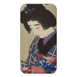 Mujer que cose, Itō Shinsui - japonés Woodblock iPhone 4 Protectores