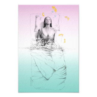 Mujer que despierta arte surrealista del agua fotografías