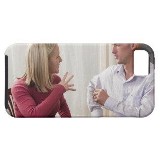"""Mujer que firma la palabra """"fina"""" en muestra iPhone 5 funda"""