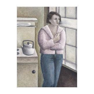 Mujer que fuma 1996 lienzo envuelto para galerias