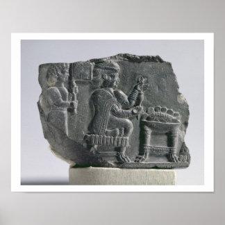 Mujer que hace girar, período Neo-Elamite, c.700-  Póster