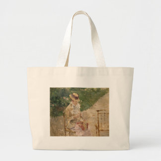 Mujer que hace punto, Berthe Morisot AR fina Bolsas De Mano