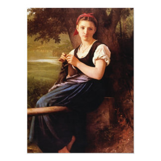 Mujer que hace punto de William-Adolphe Bouguereau Invitaciones Personales