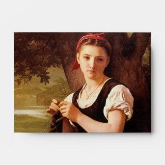 Mujer que hace punto de William-Adolphe Bouguereau Sobre