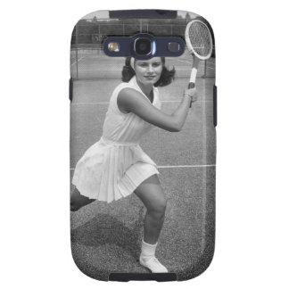 Mujer que juega a tenis samsung galaxy SIII funda