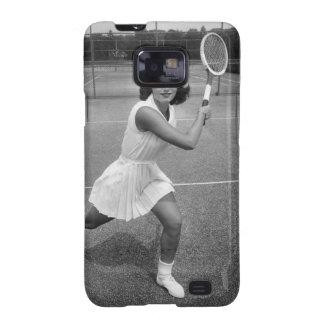Mujer que juega a tenis galaxy s2 carcasa