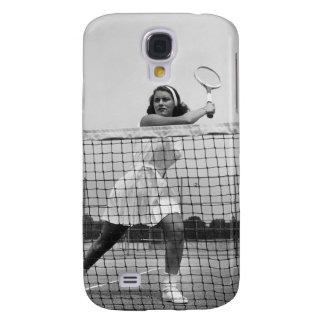 Mujer que juega a tenis funda para galaxy s4