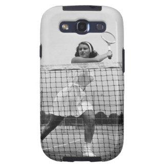 Mujer que juega a tenis samsung galaxy s3 cárcasas