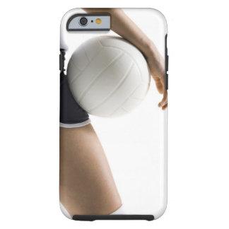 mujer que juega a voleibol funda de iPhone 6 tough