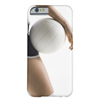 mujer que juega a voleibol funda de iPhone 6 barely there