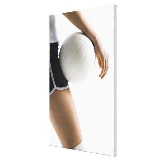 mujer que juega a voleibol impresión en lienzo