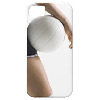 mujer que juega a voleibol iPhone 5 carcasa