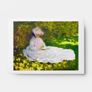 Mujer que lee a Claude Monet